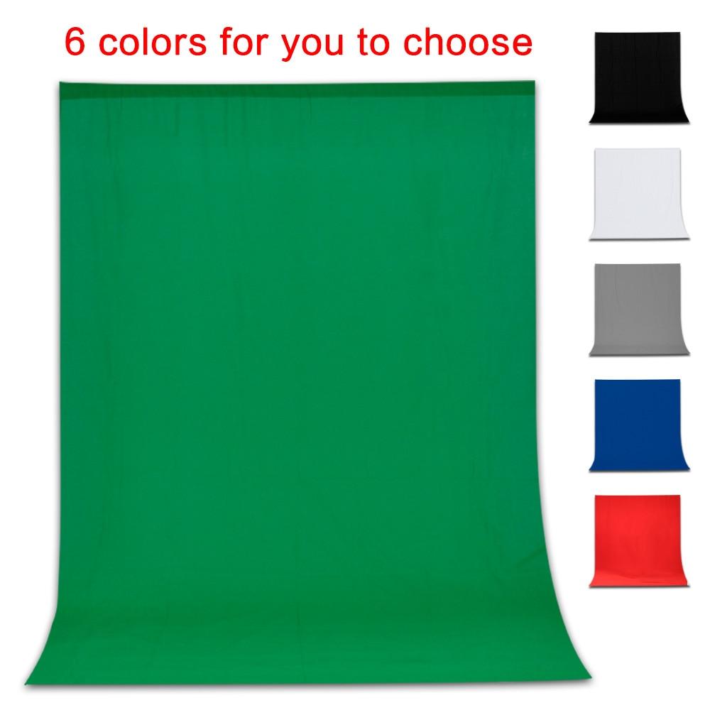 Black white blue green chromakey backdrop 6x9 muslin video