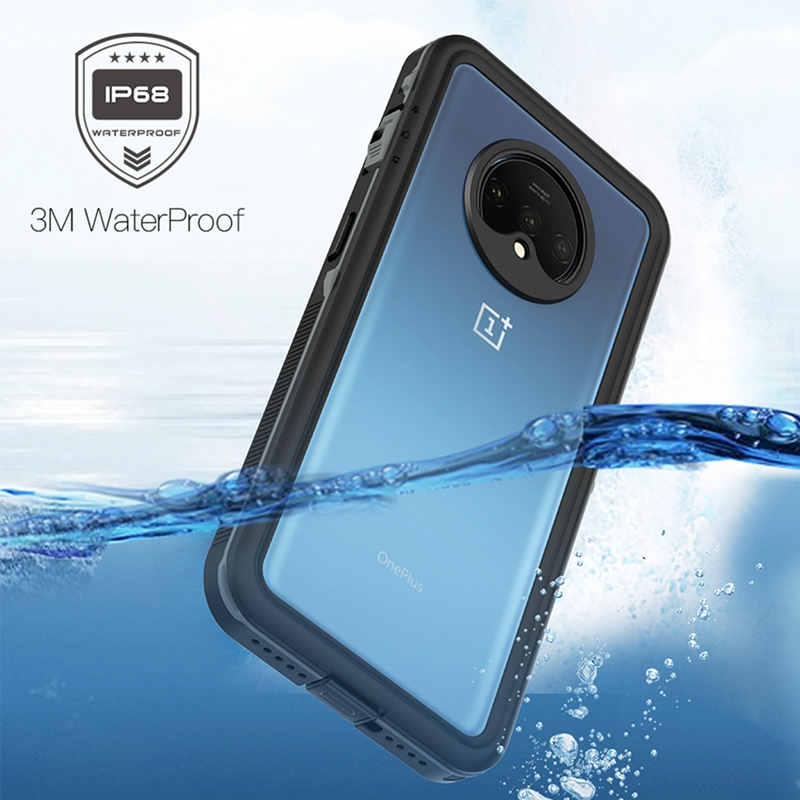 For Oneplus 7T IP68 Waterproof Phone Case Swimming Driving Protect Cover For One Plus 7T Shockproof Case