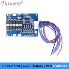 BMS denge lityum pil kurulu 5S 21V 30A 45A için tıbbi cihaz ve 18V 21V tornavida elektrikli matkap piller kullanımı Turmera