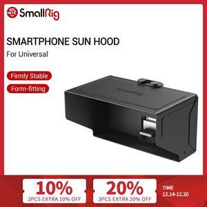 Image 1 - SmallRig смартфон Солнцезащитная бленда (маленький) Мобильный телефон Защита от солнца капот камера монитор экран ЖК капот для видео Поддержка Rig   2689
