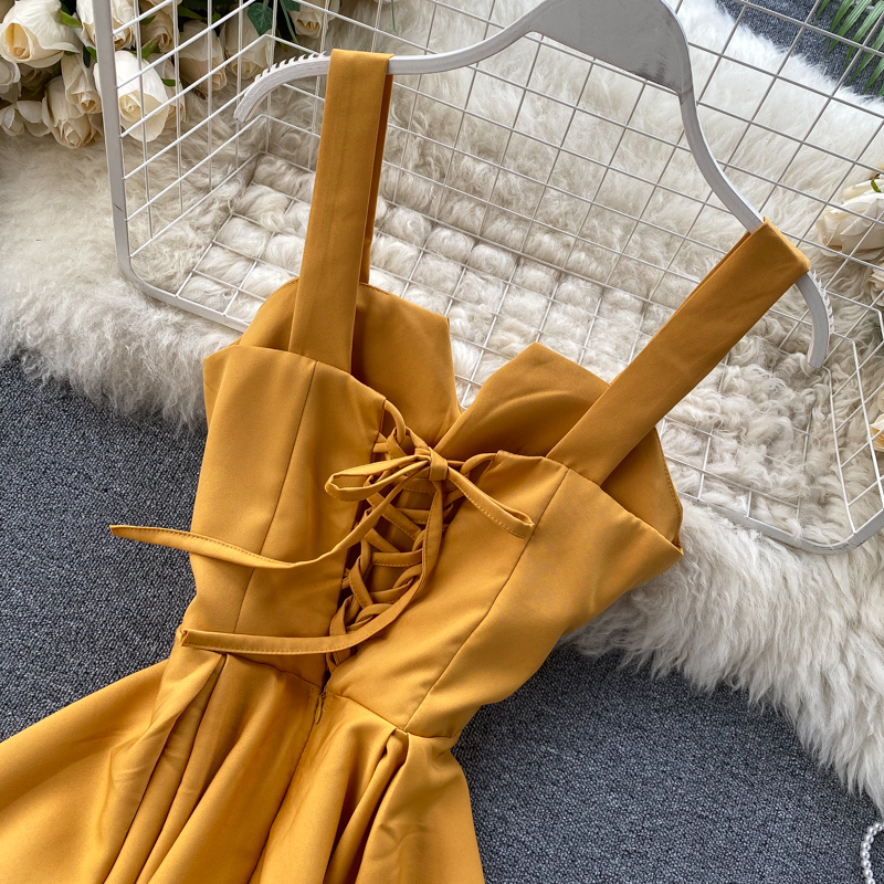 Elegant Vintage Sleeveless V-Neck Bandage Dress 17