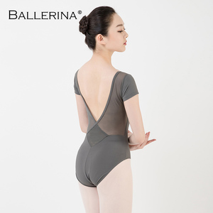 Image 2 - バレエレオタード女性ダンスウェア専門的な訓練yogaセクシーな体操クロスオープンバックレオタードバレリーナ 3551