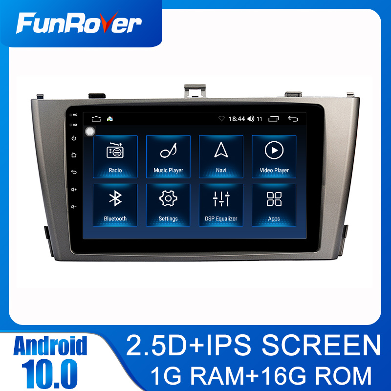 FUNROVER Android10.0 2 din dvd Stereo For Toyota Avensis T25 2003-2008 Car radio gap navigation Multimedia Video Player 2.5D+IPS image