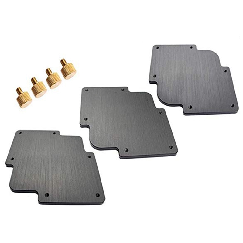 3Pcs Round Corner Jig Bakelite Plate R Round Corner Radius Jig Router Templates Bakelite Plate Engraving Machine