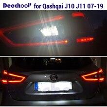 Canbus Белый светодиодный задний фонарь+ безотказная лампа номерного знака для Nissan Qashqai J10 J11 светодиодный наружные огни лампы 07-19