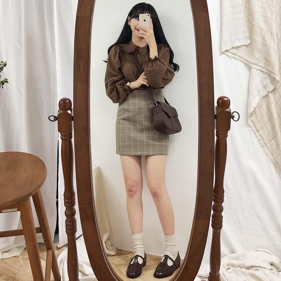 Vintage Plaid Women Skirts Autumn Plus Size Pencil Long Girls Skirt Female Vintage Skirts Winter Femme Faldas Muje