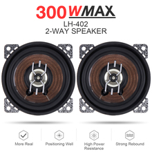 2pcs 4 Inch 300W Car Coaxial Speaker Auto Audio Music Stereo Full Range Frequency Hifi Lound speaker Loundspeaker