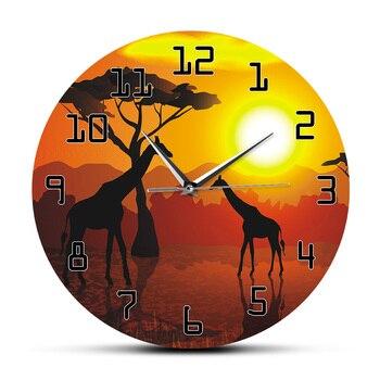 Horloge ethnique girafe chic