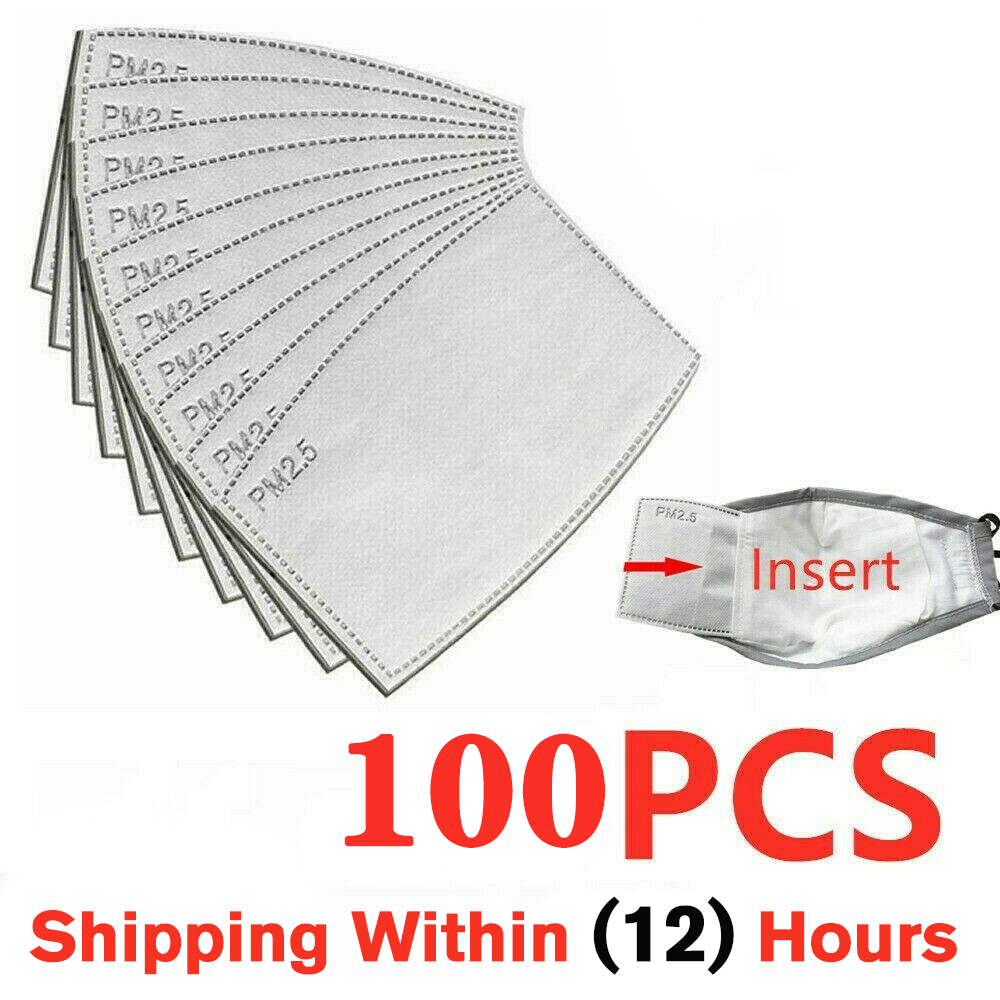 100 Pcs/Lot PM2.5 Filter Paper Anti Haze Mouth Mask Anti Dust Mask Activated Carbon Filter Paper Health Care For Adult