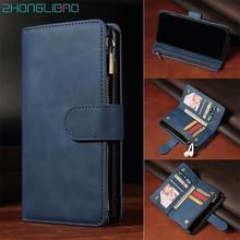 Flip deri kılıf için Huawei P40 P30 Mate 30 Pro onur 20 Pro 10i 20i 10 P20 Lite P akıllı artı manyetik kart cüzdan telefon kapak