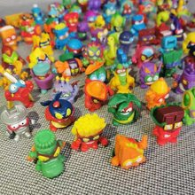 Super zings 10 pçs/lote anime lixo bonecas figuras de ação 3cm modelo brinquedo crianças jogando superzings lixo mini boneca presente natal