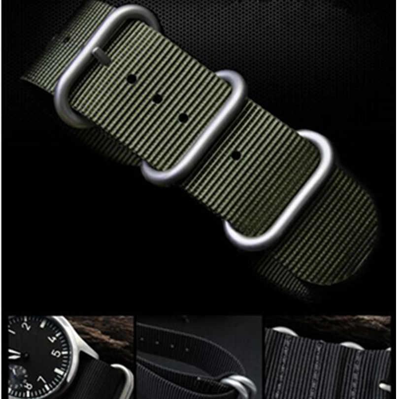 Untuk Suunto CORE Nilon Penyelam Watch Tali Band Kit dengan Lug Yang Dilengkapi 5-Cincin Pdv Gesper 20 22 24 Mm zulu untuk NATO G10 + Alat