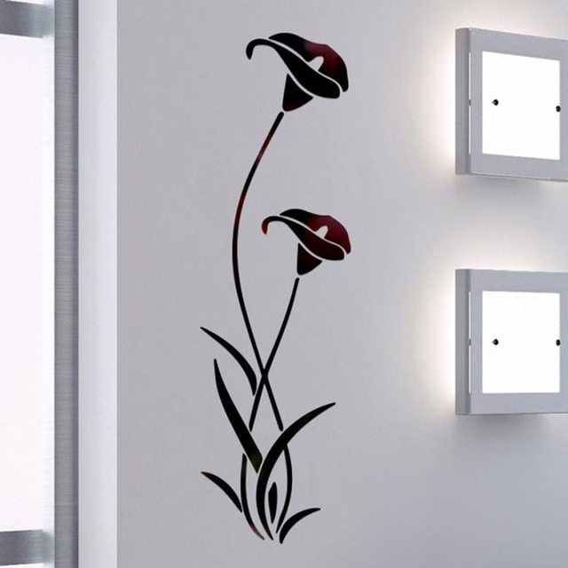 3D Diy Flower Shape Acrylic Wall Sticker Modern Stickers Decoration Living Room Removable Mural Wallpaper Art Decals Home Decor 5