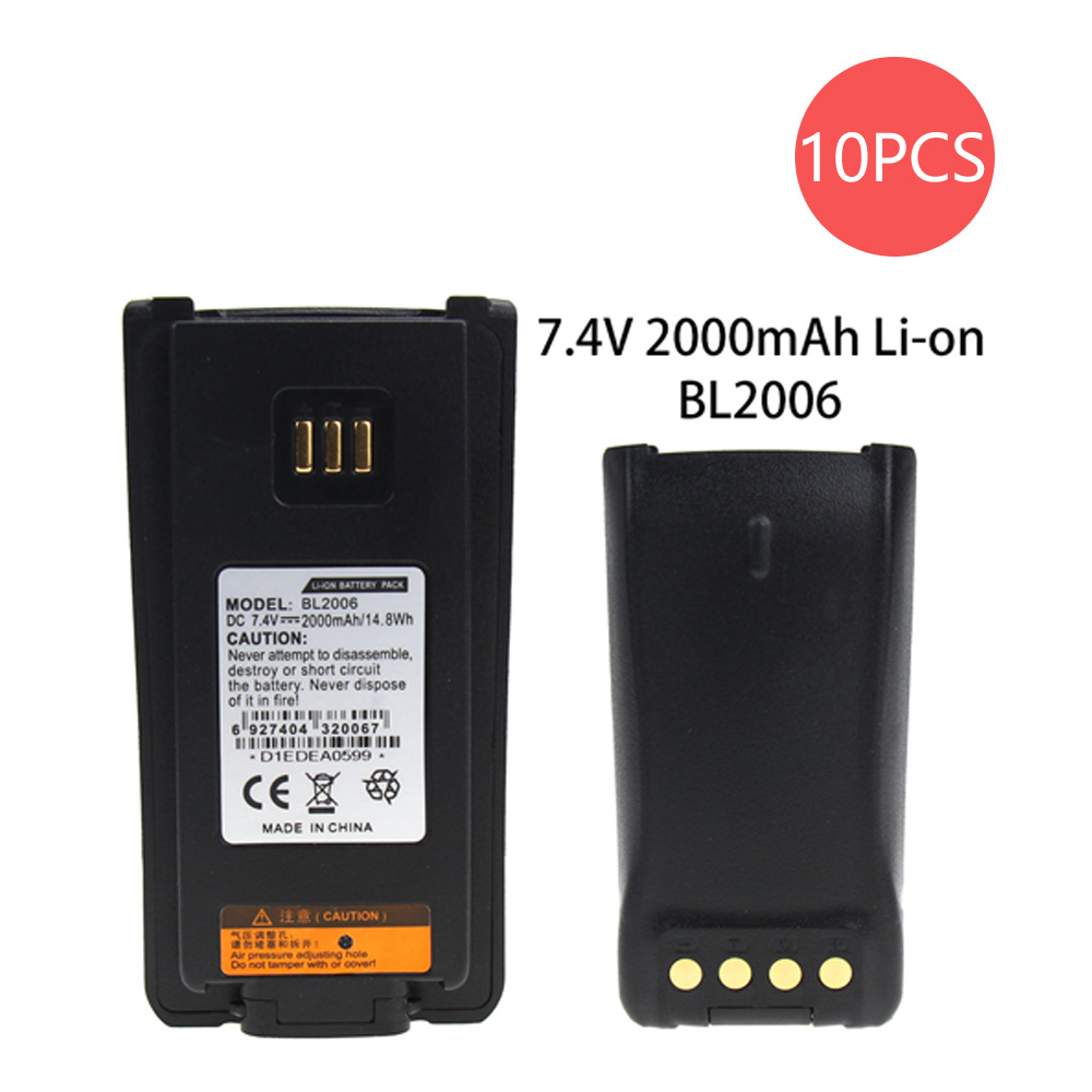 10X BL2006 Replacement For BL2006 LI-ION 2000MAH Battery For PD782 PD702 DMR RADIOS