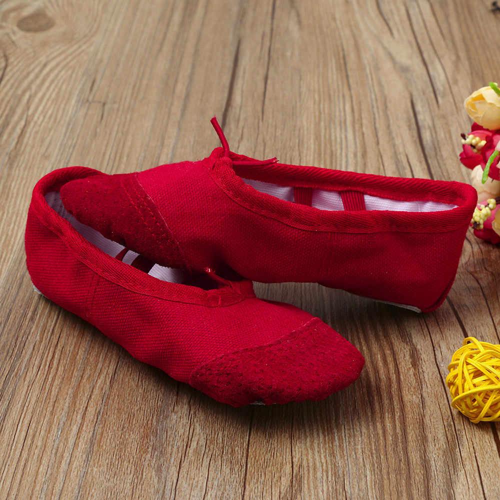 בד בלט Pointe ריקוד נעלי התעמלות כושר נעלי בית לילדים ילדים