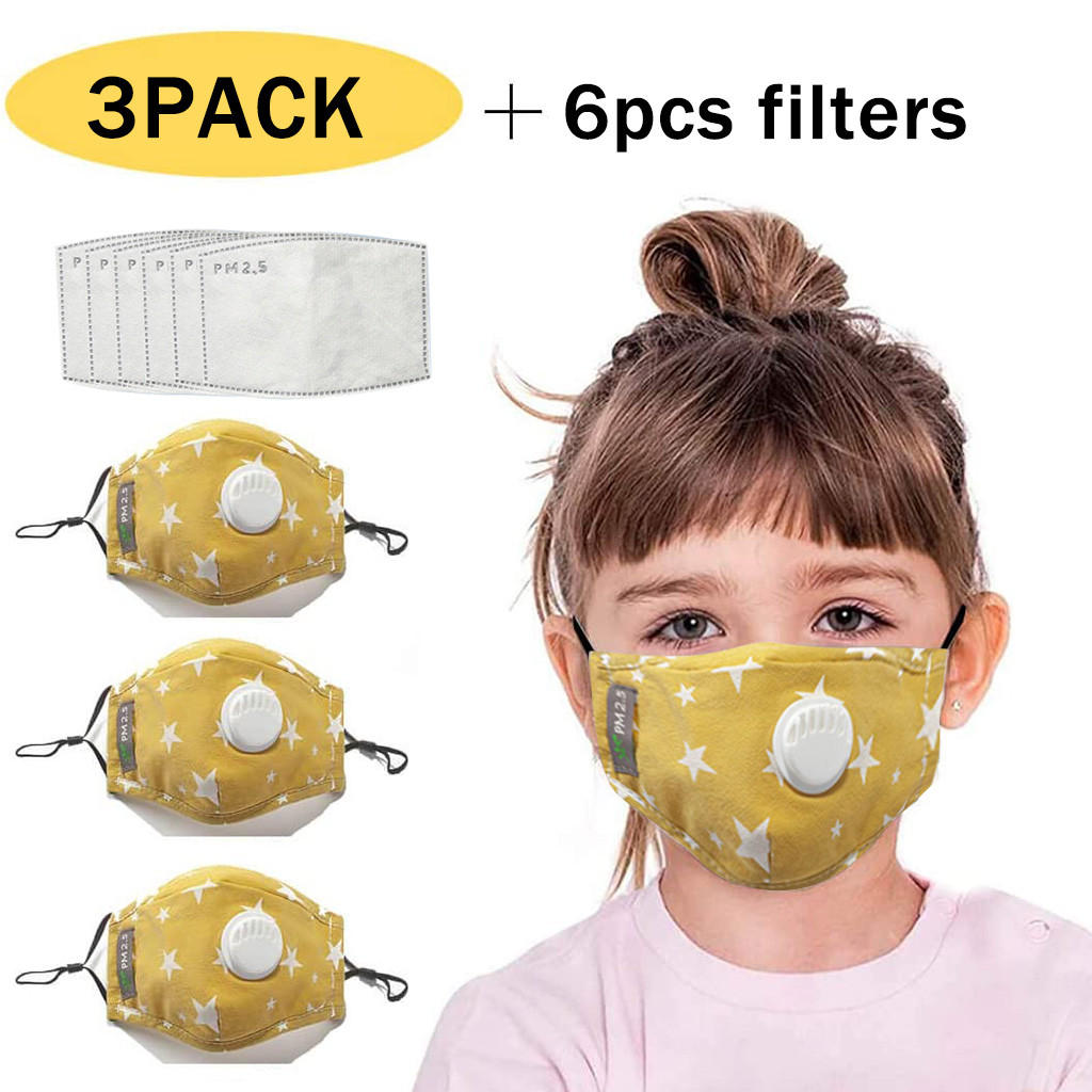 Mascarillas Kid 3pc Maks+6pc Filters facemaks Cartoon face maks Respirator Maks face maks For Germ Protection Maskmask facemaks