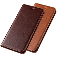 Genuine Leather Phone Cover Stand Case For Sony Xperia XZ2 Compact Magnetic Phone Case Card Holder For Sony Xperia XZ2 Flip Case