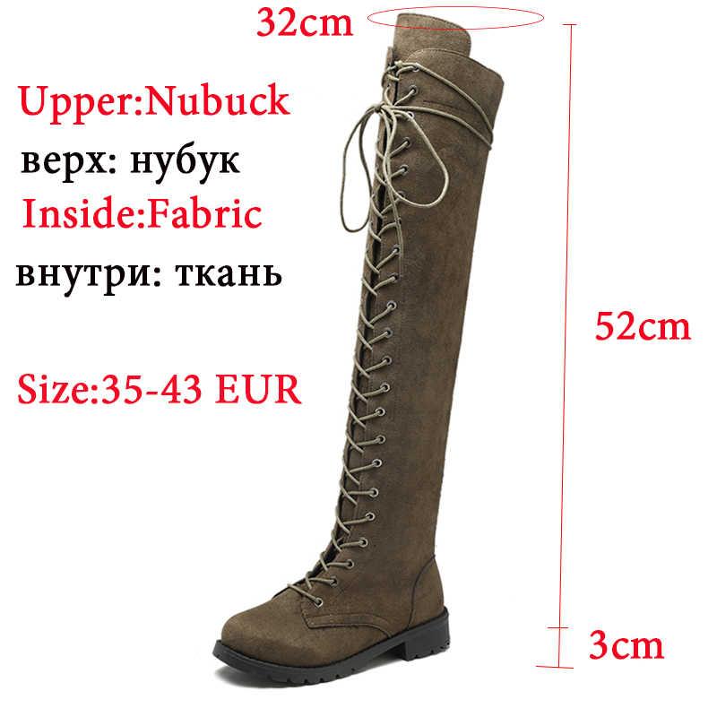 2019 nuevas botas sexis por encima de la rodilla para mujer, botas de talla grande 43, botas largas para mujer, zapatos altos hasta el muslo, zapatos de mujer