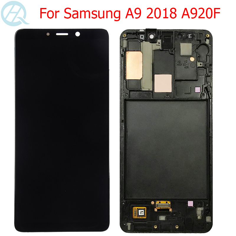 Original A920F LCD For Samsung Galaxy A9 2018 Display With Frame 6.3