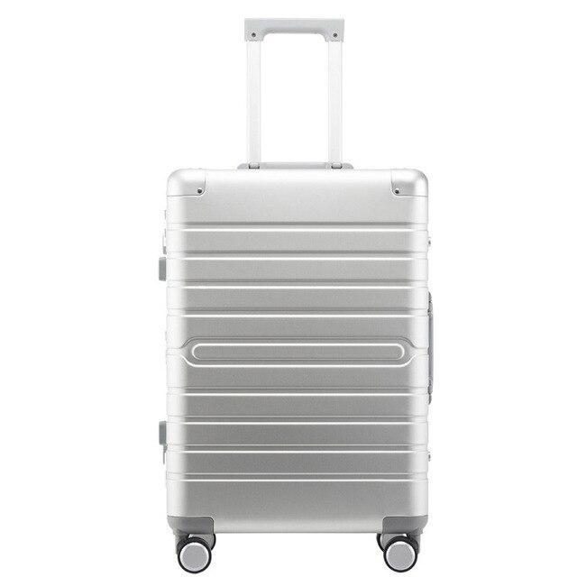 """Carrylove 100% alüminyum el bagaj 20 """"24"""" 28 """"spinner metal büyük sert arabası bavul tekerlekli"""