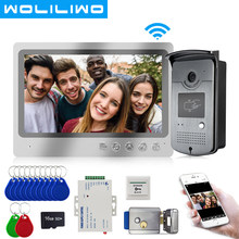 System wideodomofon Wifi 9''Screen System nagrywania domofonu białe światło Night Vision RFID odblokuj kamerę dzwonkową zdalne odblokowanie