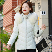 2019 Plus Size 4XL women Winter Jacket Ladies Casual Slim Hooded Fur Collar Coat Female Outwear 5 Colors Parka Mujer Invierno