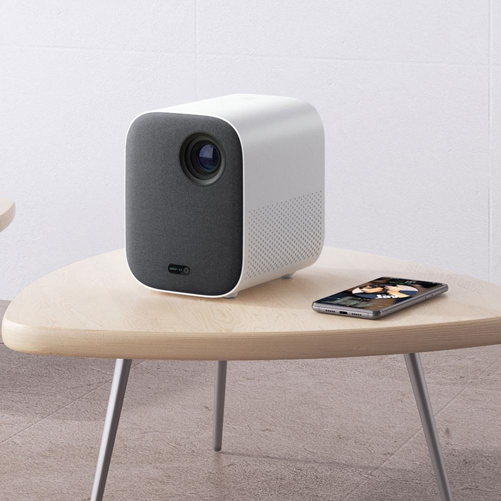 Xiaomi projetor inteligente para casa mini 3d 500 ansi lumens 1080p dlp dolby caixa de tv áudio foco automático correção keystone vertical-5