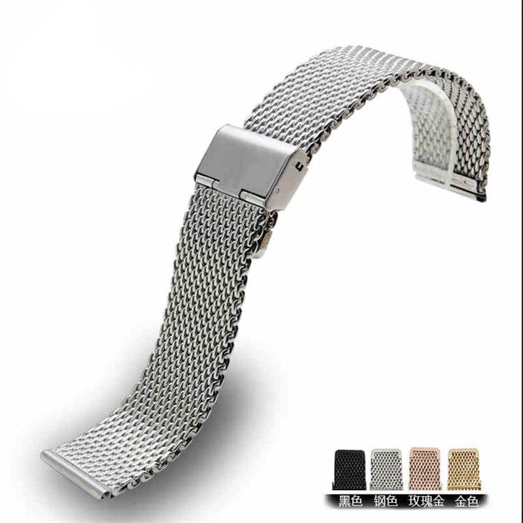 ALLBAI 2020 NEW Arrival Steel Watch Strap20mm Watch Strap Steel Watch Mesh Belt Black22/24mm Watch Strap