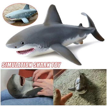 Simulated Model Marine Sea Life Action Figure Classic Ocean Animals Shark Fish Collection Toys for Kids Gift