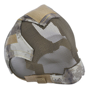 Image 3 - Outdoor Airsoft Masker Beschermende Full Gezicht Hekwerk Stalen Gaas Masker