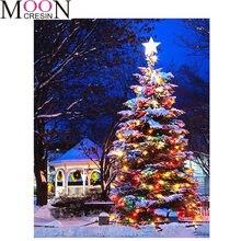 2021 diy бриллиантовый рисунок Рождество деревья мозаика полная