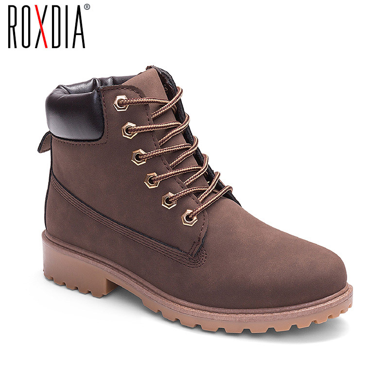 ROXDIA autumn winter women ankle boots new fashion woman snow boots for girls ladies work shoes plus size 36-41 RXW762