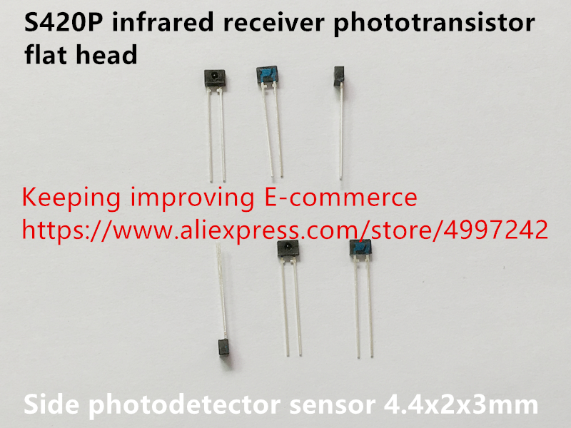 Original New 100% US Import S420P Infrared Receiver Phototransistor Flat Head Side Photodetector Sensor Switch 4.4x2x3mm