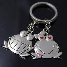 5Pairs Frog Chaveiro Couple Keychain Key Ring anahtarlik Lovers Love Key Chain Souvenirs Valentine's Day Gift Portachiavi Donna
