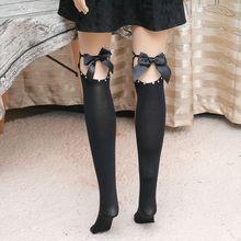 2019 new hot fashion New Sexy Women Bind  Bow Thigh-highs Stockings Nightclub Pantyhose Elegant Hosiery Sox 100% Brand