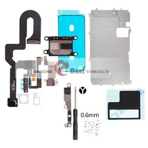 Image 2 - 5 セット/ロットlcdの表示画面iphone 7 グラム 7 8 プラス金属小さな部品保護カバー耳スピーカーフロントカメラフレックス