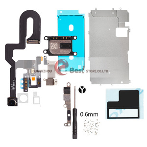 Image 2 - 5set/lot LCD Display Screen For iPhone 7G 7 8 PLUS Metal Small Parts Protect Cover Ear Speaker Front Camera  Flex