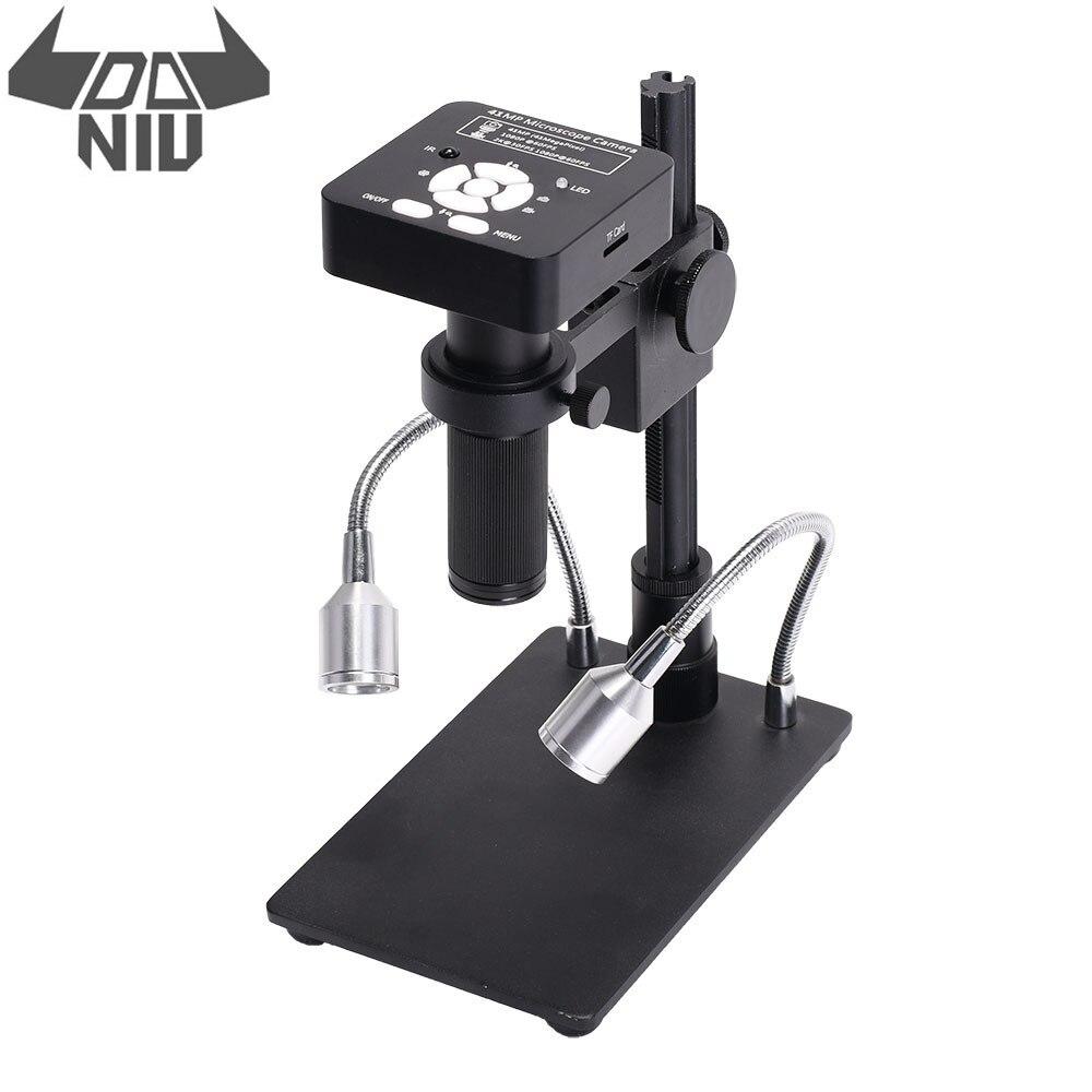 DANIU 41MP 2K 1080P 60FPS HD Industriële Elektronische Digitale Solderen Camera Microscoop Vergrootglas USB2.0 met Stand voor Het Repareren