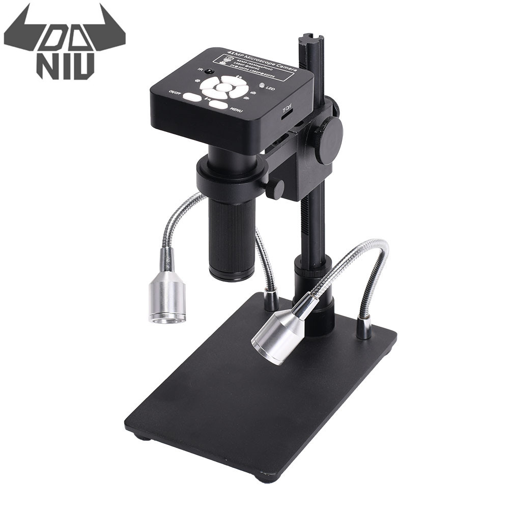 DANIU 41MP 2K 1080P 60FPS HD Industrial Electronic Digital Soldering Camera Microscope Magnifier USB2.0 with Stand for Reparing