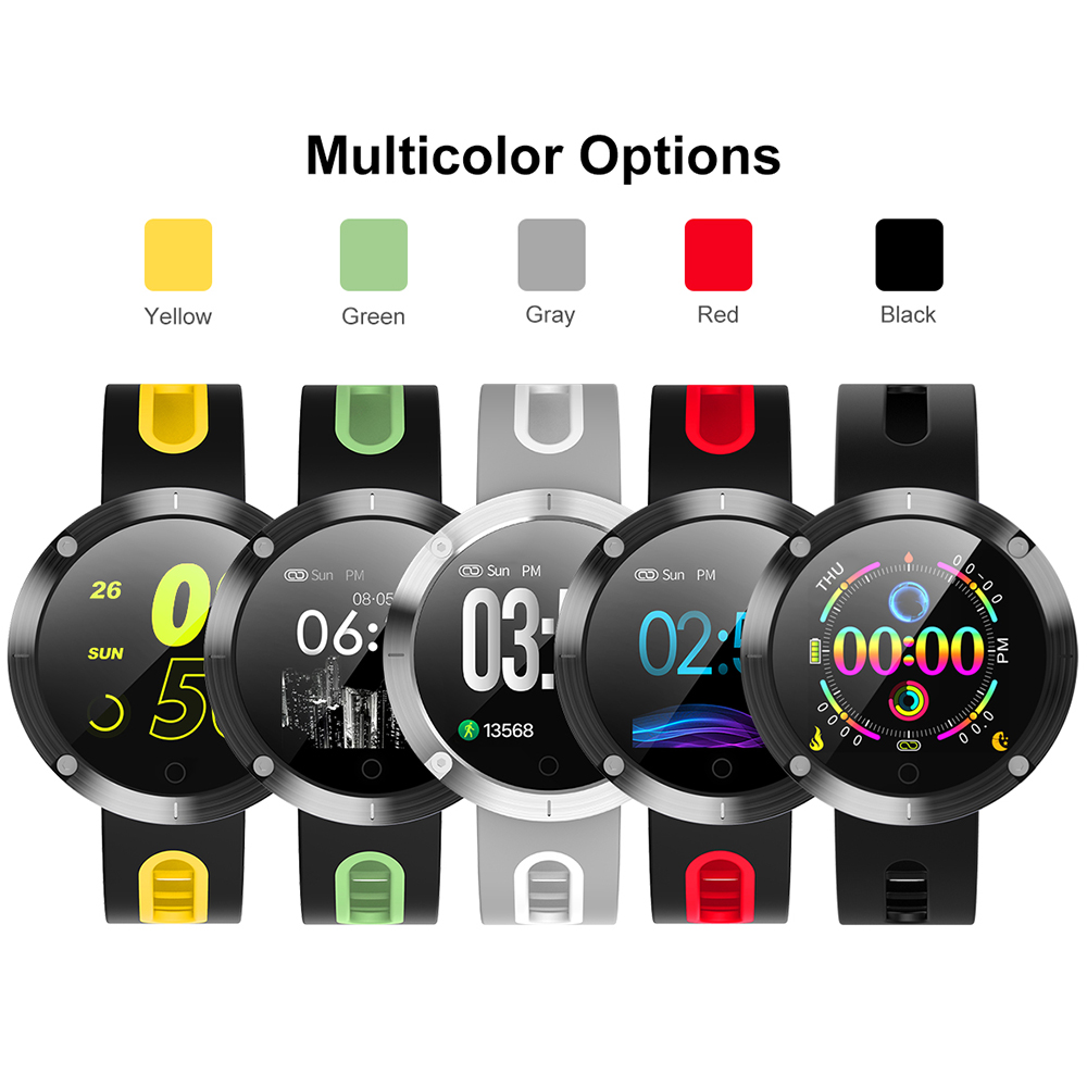 Fitness Sport Smart Band Watch 1 22 quot IPS Large Screen IP68 Waterproof APP GPS Track Heart Rate Monitor Smartwatch for Men Women in Smart Watches from Consumer Electronics