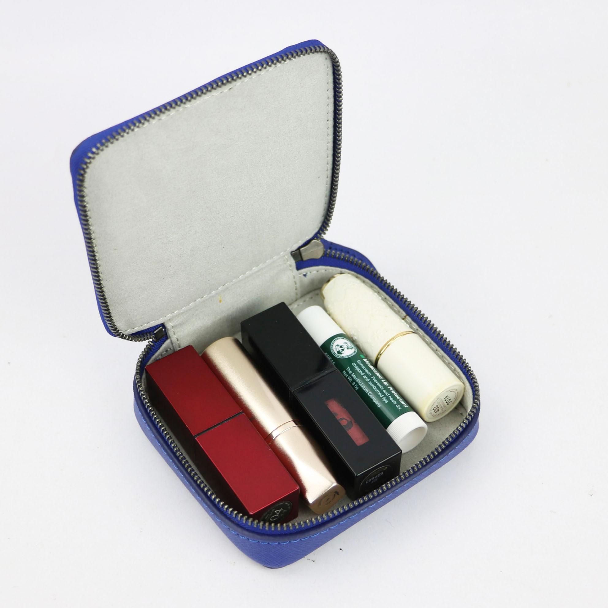 2020 Saffiano Genuine Leather Box For Jewelry New Style Portable Organizer Display Travel Jewelry Box Zipper Makeup Storage Box
