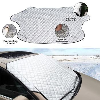 187x95cm Car Window Windshield Waterproof Sun Shade Snow Frost Cover Protector Car Windshield Cover Protector Cover Protector image