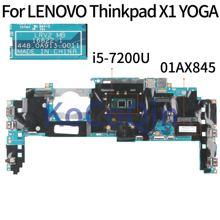 KoCoQin laptop Motherboard For LENOVO Thinkpad X1 YOGA Core SR2ZU I5-7200U 8GB Ram Mainboard 01YR141 01AX845 5B20V13702 16822-1