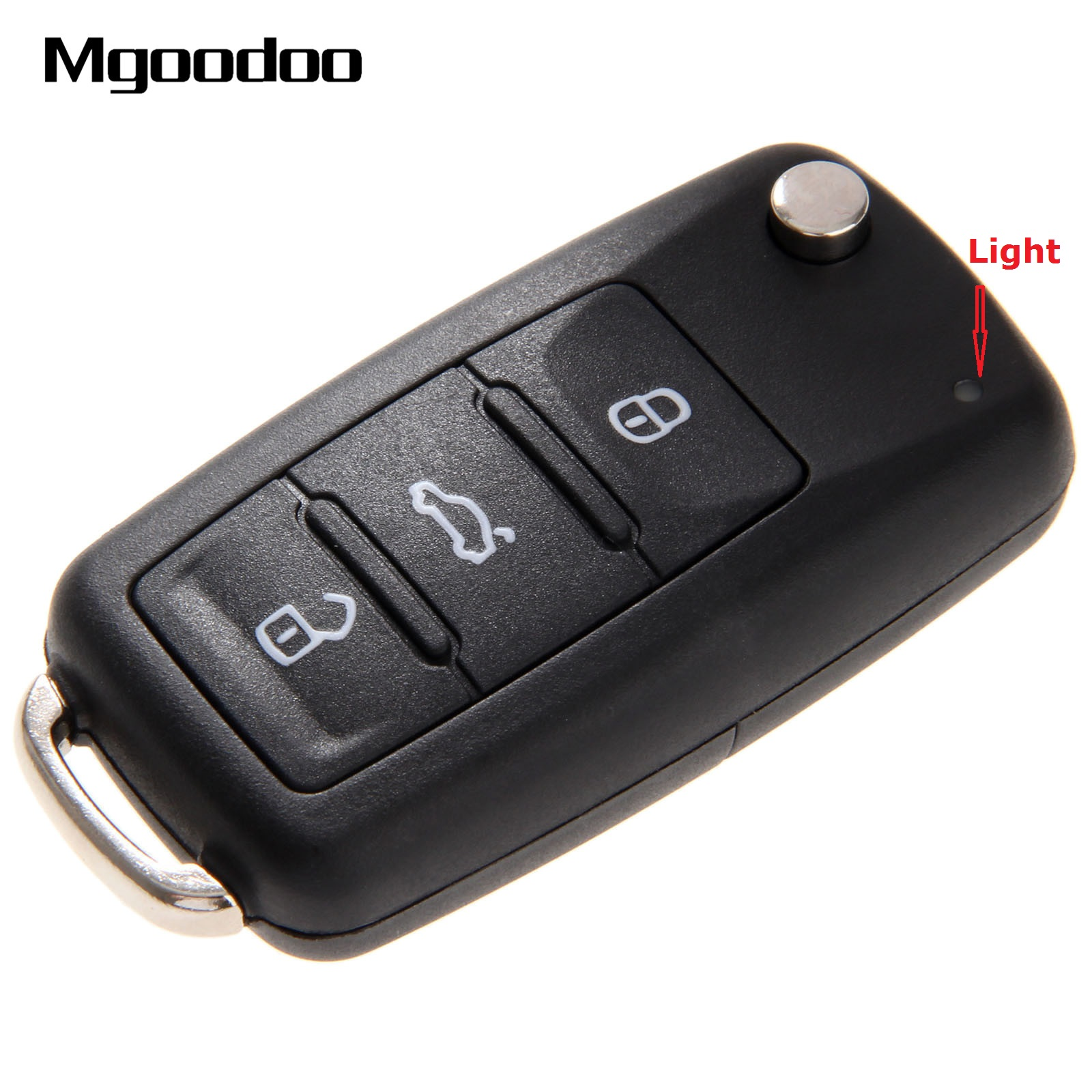 3 botões flip dobrável carro remoto chave do escudo para vw volkswagen golf mk6 tiguan polo passat cc seat skoda octavia caso em branco fob