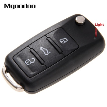 3 przycisk odwróć składane etui na kluczyki do samochodu puste etui brelok do klucza do VW Volkswagen Golf Mk6 Tiguan Polo Passat CC SEAT Skoda Octavia tanie i dobre opinie Mgoodoo New Key shell Case for Volkswagen for VW Golf Mk6 Tiguan Polo Skoda Octavia Plastic + Metal China 3 buttons 70mm
