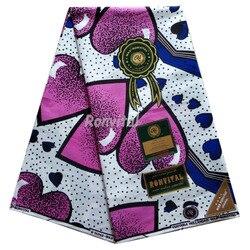 Afrykańska tkanina prawdziwa gwarantowana prawdziwy holenderski wosk wysokiej jakości pagne ducth holenderska prawdziwa 6 jardów afrykańska ankara tkaniny do szycia