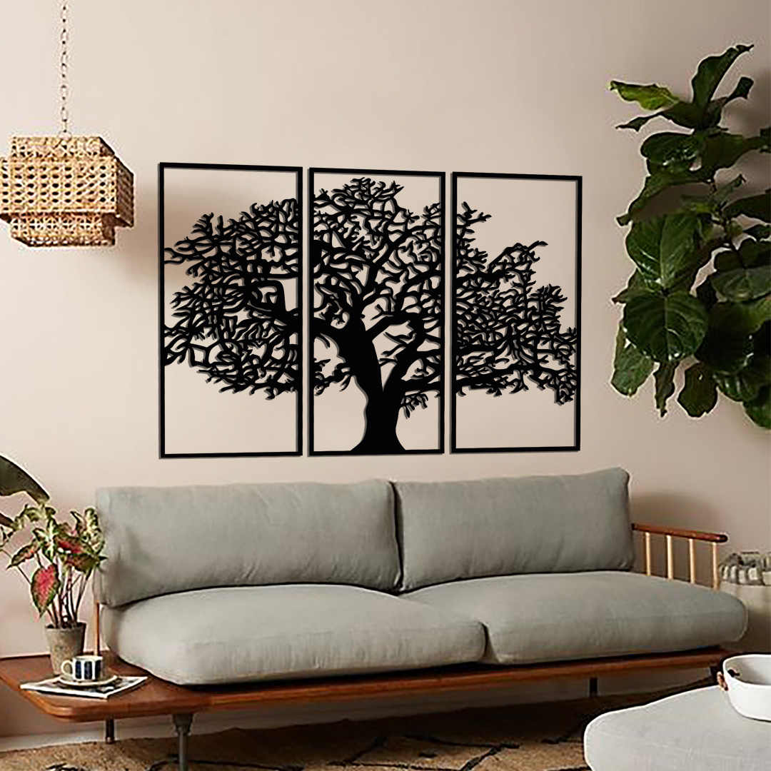 Metal Wall Decor and Art, Tree of Three, Metal Art Decor Home Office  Decoration Living Room Decor|Plaques & Signs| - AliExpress