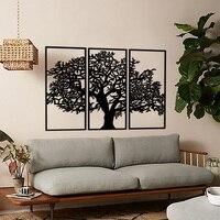 Metal Wall Decor and Art, Tree of Three, Metal Art Decor Home Office Decoration Living Room Decor