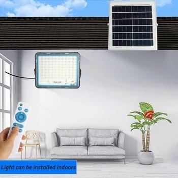 Multi-function Solar Flood Light Outdoor Waterproof Wall Lamp Led Solar Lamps Garden Lighting 150/200/300/400W W/ Solar panel RC 4