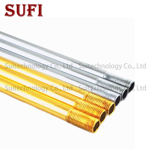 Image 2 - 2pcs Lamp floor lamp tube straight tube electroplated hollow tooth tube M10 tooth golden sliver table lamp connection tube